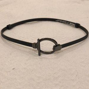 Black Croc Adjustable Belt
